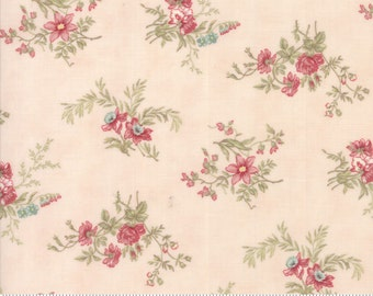 Poetry - Delicate Sprays in Blush by 3 Sisters for Moda Fabrics