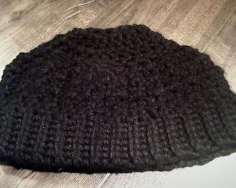 Messy bun hat- Chunky