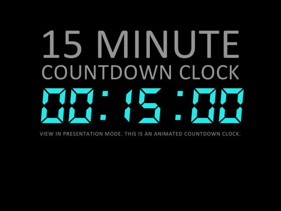 15 minute digital countdown clock presentation powerpoint