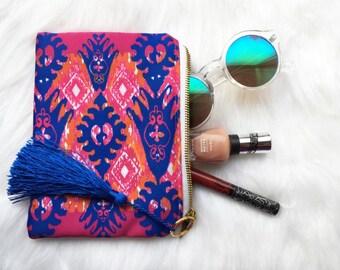 SALE!  bag- clutch bag- festival bag- gift for her- boho bag- beach bag- clutch purse- cosmetic bag, cosmetic pouch