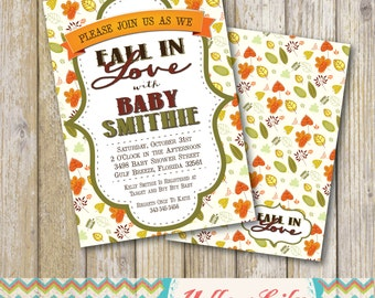 Fall In Love Baby Shower Invitation - DIY Party Printable  / Baby Shower / Gender Neutral / New Baby