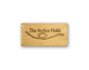 The Anchor Holds mounted rubber stamp, Christian inspirational image, bible journaling, ocean, nautical, CMS #2