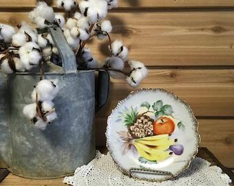 Vintage plate fruit j Andrea decor farmhouse hanging retro kitchen 1019 wall decor cottage