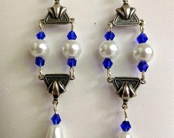 Renaissance Earrings for Necklace, Tudor Earrings, Medieval Earrings, Renaissance Jewelry, Tudor Jewelry, Replica Jewlery, Swarovski Crystal