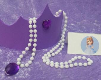 Fiesta paquete de Sofia la primera Tiara y amuleto de collar de Avalor (Princesa Sofía)