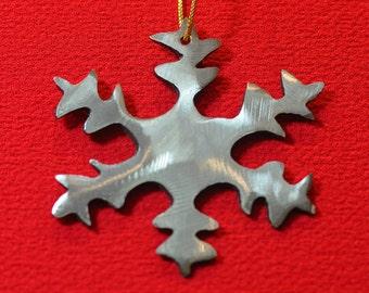 Metal Snowflake Ornament, Snowflake Christmas Ornament, Minimalist Christmas Ornament, Modern Ornament, Stocking Stuffer, Gift for Mom