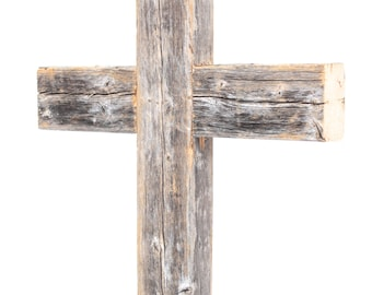 Rustic Wooden Wall Cross | Decorative Cross| Reclaimed Wood Wall Cross| Wood Cross (Additional Colors Available)