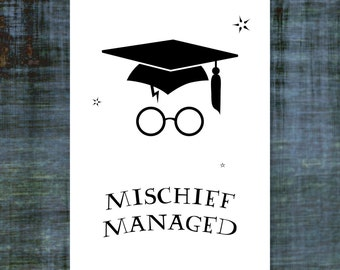 """Harry Potter Graduation Card  
