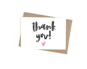 Thank You Card - Pack of 6 Thank You Cards