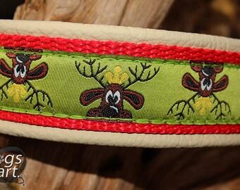 "Dog Collar, Leather Dog Collar, Animal Print Collar, Martingale Collar, Buckle Collar, Boy Dog Collar, Girl Dog Collar, ""Rudi"" by dogsart"