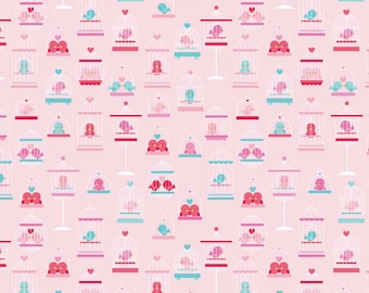 CLEARANCE Riley Blake Designs - Lovey Dovey - Pink Main - by Doodlebug Designs - 1/2 Yard