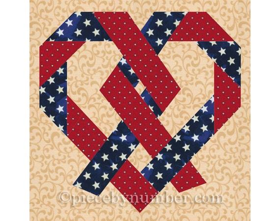 Pretzel Heart Quilt Pattern Paper Pieced Quilt Patterns