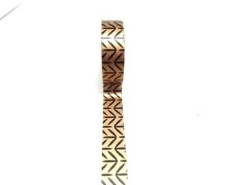 Black and Pink Gold Leaf Pattern Washi Tape