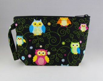 Night Owls Makeup Bag - Accessory - Cosmetic Bag - Pouch - Toiletry Bag - Gift