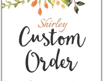 3 custom dresses for Shirley in the pictured styles .