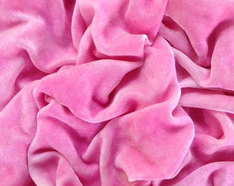 Cotton Candy Pink - Luxurious Velvet Fabric yardage
