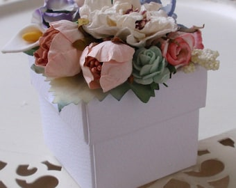Flower Garden Favor Box set of 10