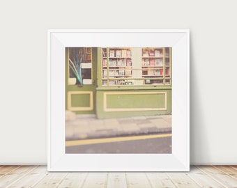 book photograph Edinburgh photograph book shop print literature print book lovers gift travel photography green home decor