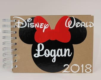 Custom Disney Autograph Book Personalized Minnie Mouse 2018