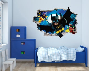 Batman and friends- 3D Wall Effect -  Wall Decal For Home Decoration