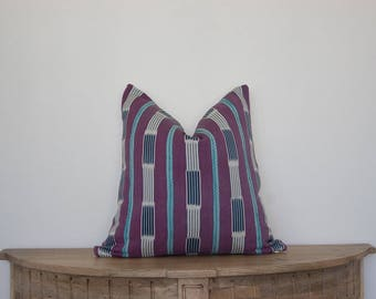 18X18 African Baule Pillow Cover