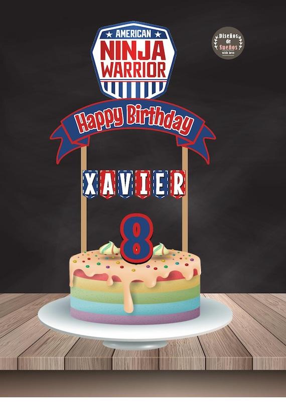 American Ninja Warrior Cake Topper American Ninja Warrior