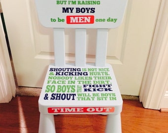 personalized time out chair boy free shipping. Black Bedroom Furniture Sets. Home Design Ideas