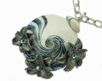 Unique handmade necklace, Unique necklace, Handmade necklace, Blue necklace, Unique blue necklace, Blue and silver necklace, Blue and silver