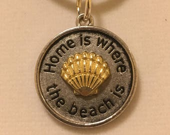 Home Is Where The Beach Is Pendant Necklace