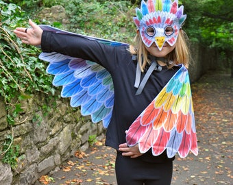 Fantastic Feathers — cut-and-sew reversible cape and mask