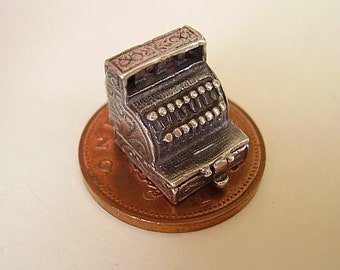 Sterling Silver Cash Register Till Opening Charm