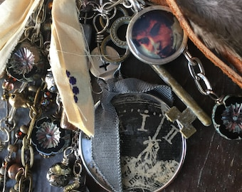 Ode to Bob Dylan OOAK Necklace by SusanARay of OneHealingStone