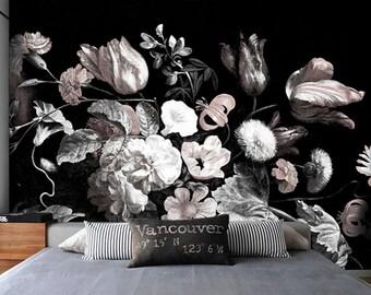 Black and white flower wallpaper designs good demask patterns gallery of black and white flower wallpaper designs with black and white flower wallpaper designs mightylinksfo