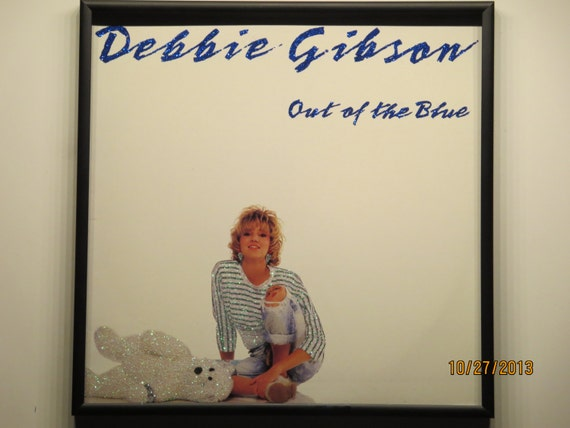 Glittered Record Album - Debbie Gibson - Out Of The Blue