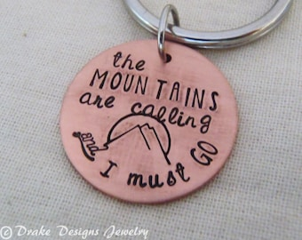 mountains outdoor gift. the mountains are calling and I must go travel gifts men