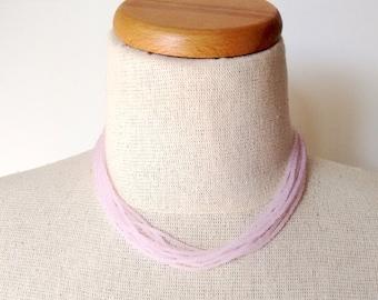 Blush pink necklace, wedding necklace, bridal party necklace, light pink necklace, beaded necklace, bridesmaid gift, soft pink, light pink