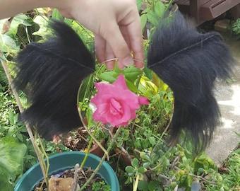 Super Soft Fluffy Black Kitten Ears