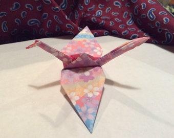 6 Hand Made Origami Paper Crane