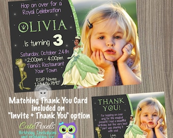 Princess Tiana Invitation, The Princess and the Frog Invitation, Tiana Birthday Invitation, Princess Invitation, Disney Princess Invitation