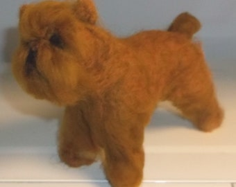 Needle Felted Brussels Griffon