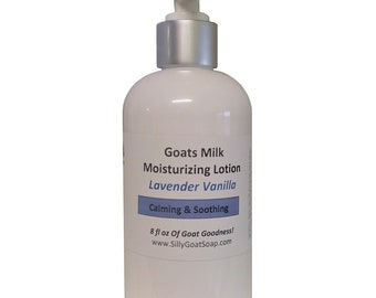 Lavender Vanilla Lotion, Lavender Lotion,  Lotion, Goat Milk Lotion, Goats Milk Lotion