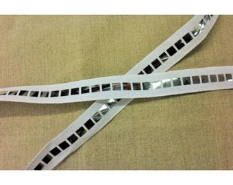 Sequined mirror-25 mm - white