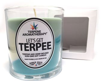 LET'S GET TERPEE: Terpene, Hemp and Soy Wax Strain Inspired Girl Scout Cookies Candle