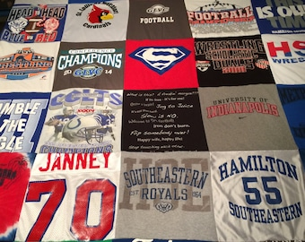 Custom Made Tshirt Blankets (30 shirts)