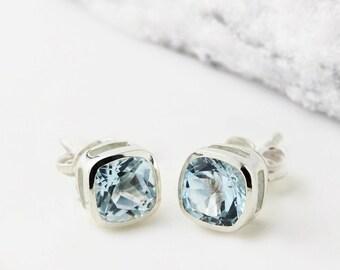 Studs, Stud Earrings, Bridesmaid Earrings, Boho Earrings, Minimalist Earrings, Silver Earrings, Everyday Earrings, Gemstone Earrings JE244