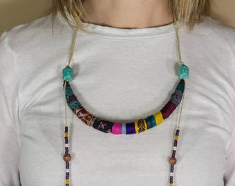 Ethnic Beaded Jewelry, Tribal Bead Necklace, Ethnic Necklace, African Necklace, Tribal Jewelry, Gift For Her, Buddha Necklace, Ethnic Tribal