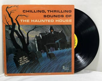 Disney's Chilling Thrilling Sounds Of The Haunted House vinyl record 1964 Halloween VG+