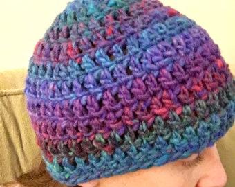 Handmade crochet adult beanie hat