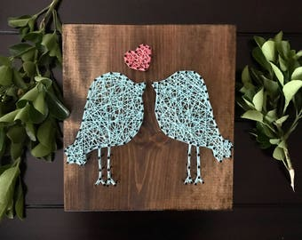 MADE TO ORDER Love Birds String Art