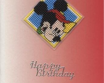 Mickey Mouse happy birthday card